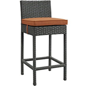 Outdoor Bar Chairs - Modway EEI-1957-CHC-TUS Sojourn Outdoor Patio Rattan Sunbrella Bar Stool | 889654027799 | Only $141.75. Buy today at http://www.contemporaryfurniturewarehouse.com