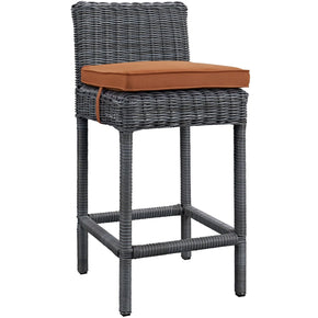 Summon Outdoor Patio Sunbrella Bar Stool Canvas Tuscan Chair
