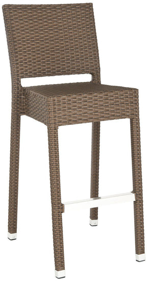 Bethel Indoor-Outdoor Barstool Brown Outdoor Bar Chair