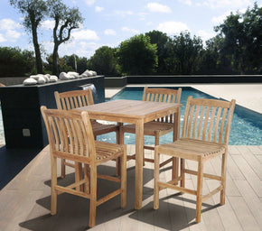 Amazonia Teak Eden 5 Pc Bar Set Outdoor