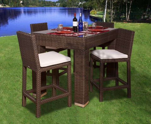Monza 5-Pc Bar Set Rectangular Outdoor