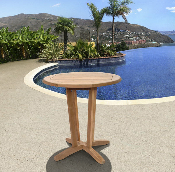 Amazonia Teak Nile Round Table Outdoor Bar