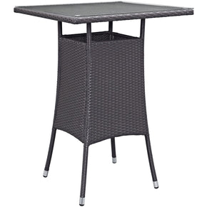 Modway EEI-1955-EXP Convene Small Outdoor Patio Bar Table | 889654027744 | $196.00. Outdoor Bar Tables. Buy today at http://www.contemporaryfurniturewarehouse.com