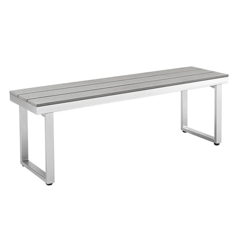 All-Weather Grey Patio Dining Bench Outdoor