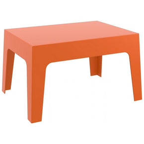 Box Resin Outdoor Center Table Orange Coffee