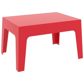 Box Resin Outdoor Center Table Red Coffee