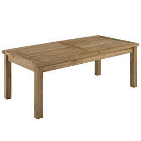 Marina Outdoor Patio Teak Rectangle Coffee Table Natural