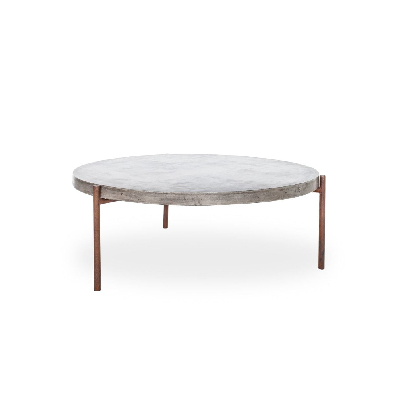 Moes Home Collection Mendez Round Concrete Outdoor Indoor Coffee