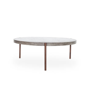 Mendez Round Concrete Outdoor / Indoor Coffee Table 36