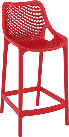 Air Counter Stool Red (Set Of 2) Outdoor Chair