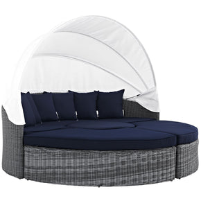 Summon Canopy Outdoor Patio Sunbrella Daybed Canvas Navy