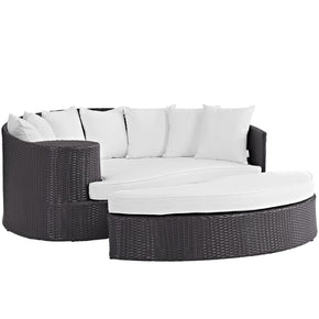 Convene Outdoor Patio Daybed Espresso White