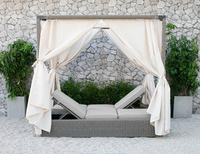 Outdoor Daybeds - Vig Furniture VGATRABD-106-BGE Renava Marin Outdoor Beige Canopy Sunbed | Only $1628.99. Buy today at http://www.contemporaryfurniturewarehouse.com