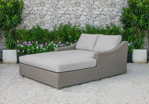 Renava Pismo Outdoor Beige Wicker Sunbed Daybed