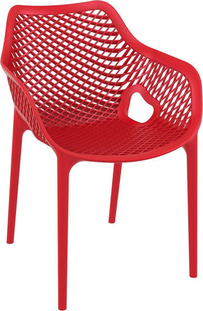 Outdoor Dining Chairs - Compamia ISP007-RED Air XL Outdoor Dining Arm Chair Red (Set of 2) | 8697443554201 | Only $289.99. Buy today at http://www.contemporaryfurniturewarehouse.com