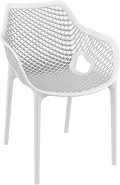 Air Xl Outdoor Dining Arm Chair White (Set Of 2)