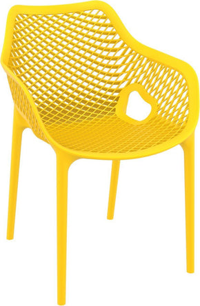 Air Xl Outdoor Dining Arm Chair Yellow (Set Of 2)