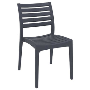 Ares Outdoor Dining Chair Dark Gray (Set Of 2)