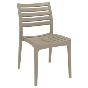 Ares Outdoor Dining Chair Dove Gray (Set Of 2)