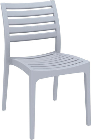 Ares Outdoor Dining Chair Silver Gray (Set Of 2)