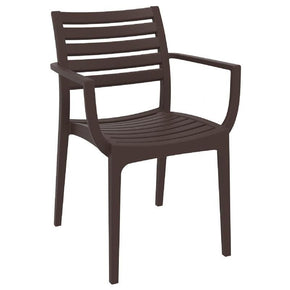 Artemis Outdoor Dining Arm Chair Brown (Set Of 4)