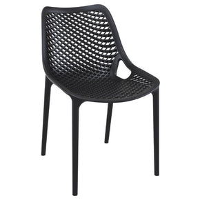 Outdoor Dining Chairs - Compamia ISP014-BLA Air Outdoor Dining Chair Black (Set of 2) | 8697443556571 | Only $249.99. Buy today at http://www.contemporaryfurniturewarehouse.com