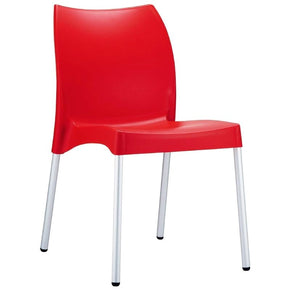 Vita Resin Outdoor Dining Chair Red (Set Of 2)