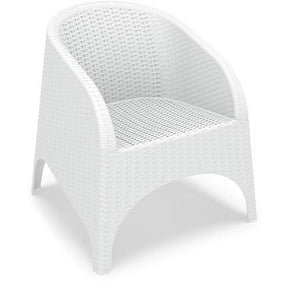 Aruba Resin Wickerlook Chair White (Set Of 2) Outdoor Dining