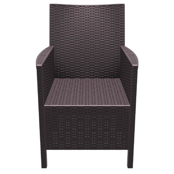 Outdoor Dining Chairs - Compamia ISP806-BR California Resin Wickerlook Chair Brown (Set of 2) | 8697443553457 | Only $289.99. Buy today at http://www.contemporaryfurniturewarehouse.com