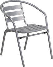 Flash Furniture Metal Restaurant Stack Chair with Aluminum Slats TLH-017C-GG | 889142043669| $34.80. Outdoor Dining Chairs - . Buy today at http://www.contemporaryfurniturewarehouse.com
