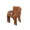 Arizona 4 Pc Stacking Armchair Outdoor Dining Chair