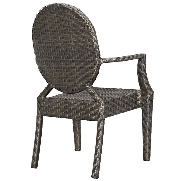 ... Casper Modern Outdoor Dining Armchair Dual Tone Synthetic Rattan Weave  Chair ...