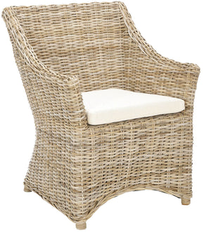 Ventura Arm Chair Brown/ White Washed Outdoor Dining