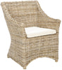 Ventura Arm Chair Brown/ White Washed