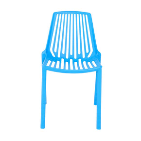 Oasis Stacking Chair In Blue Polypropylene - Set Of 4 Outdoor Dining
