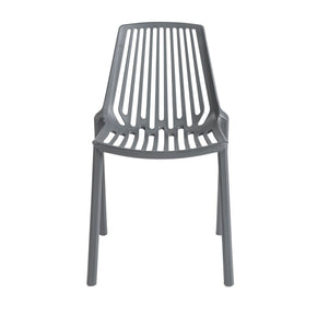 Oasis Stacking Chair In Dark Gray Polypropylene - Set Of 4 Outdoor Dining