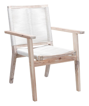 South Port Dining Chair White Wash & (Set Of 2) Outdoor