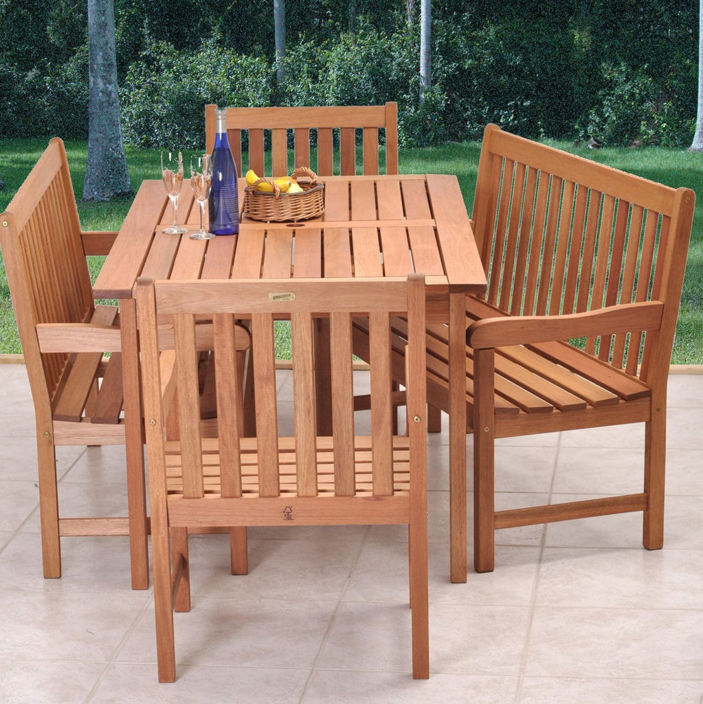Milano Bench 5 Piece Set Outdoor Dining
