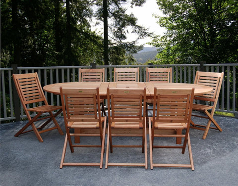 Milano Grand Extendable Table Set Outdoor Dining