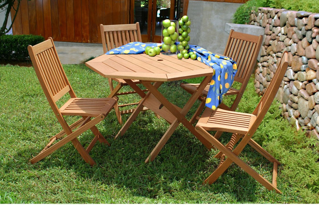 Milano Octogon 5 Piece Set Outdoor Dining