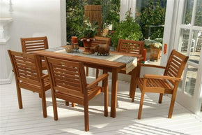 Milano Rectangular 7 Piece Set Outdoor Dining