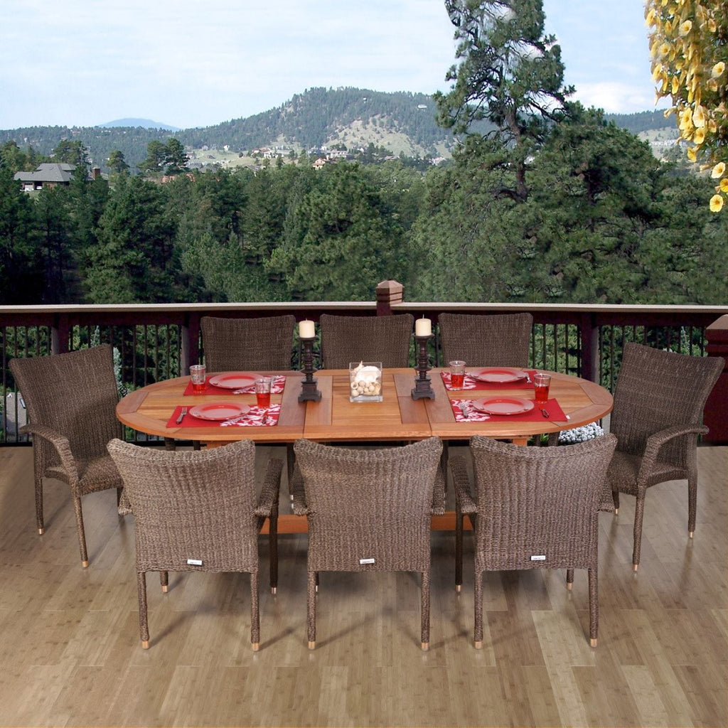 Rennaisance 9-Pc Dining Set Outdoor