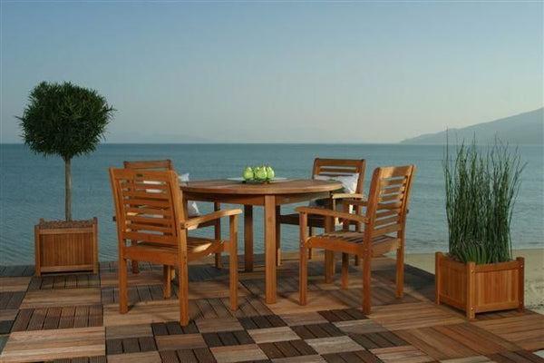 Milano Round 5 Piece Set Outdoor Dining