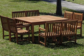 Milano Square Table Set Deluxe Outdoor Dining