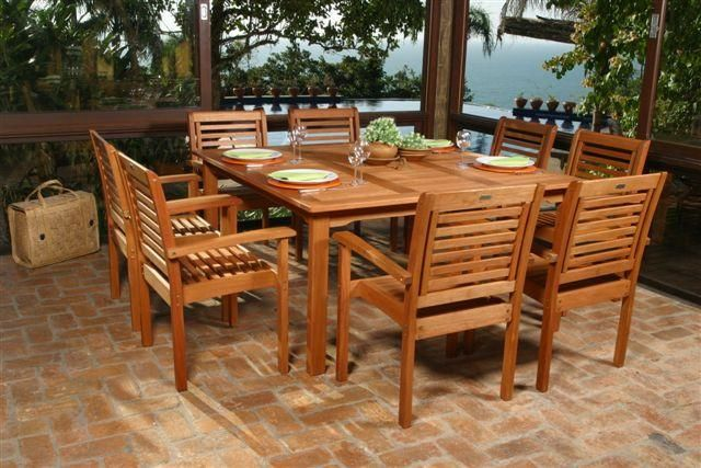 Milano Square 9 Piece Set Outdoor Dining
