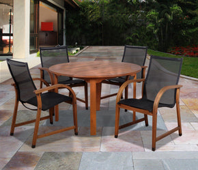 Bahamas 5 Pc Eucalyptus Round Dining Set Outdoor