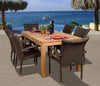 Amazonia Teak Brussels 7-pc Teak/Wicker Dining Set