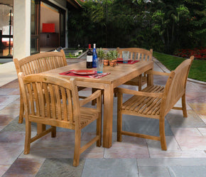 Amazonia Teak Geneve 5-Pc Dining Set Outdoor