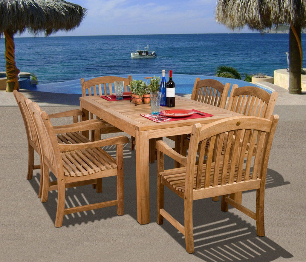 Amazonia Teak Oslo 7-Pc Dining Set Outdoor