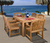 Amazonia Teak Oslo 7-pc Teak Dining Set